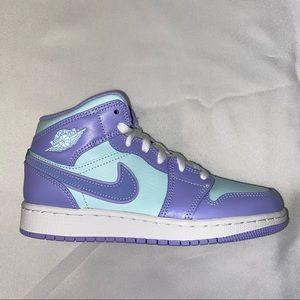 Nike Air Jordan 1 Mid GS Purple Easter 4Y 5.5W